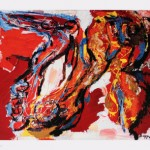 Woman and Ostrich - Karel Appel