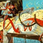 Jackson Pollock Stenographic Figure