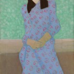 Milton Avery - The Artist's Daughter in a Blue Gown