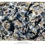 Silver On Black - Jackson Pollock