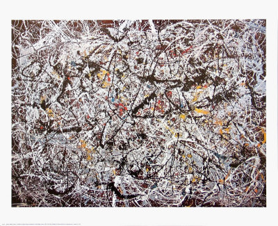 Jackson pollock prints abstract artist for Mural jackson pollock